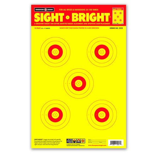 "Premium Shooting Targets 12/"" Burst Bright Reactive Paper Target Gun Rifle Pistol for sale online"