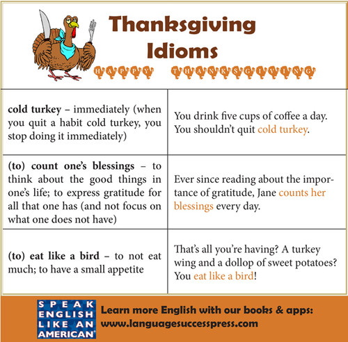 Idioms to Celebrate Thanksgiving