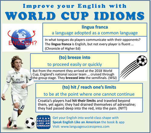 The World Cup Coverage - Full of Idioms!