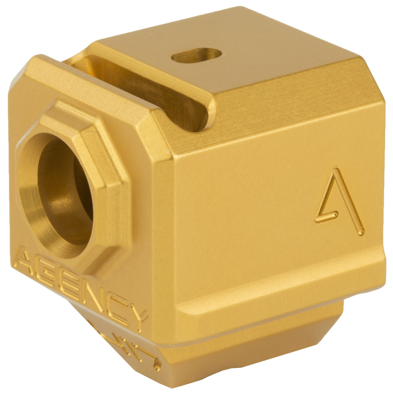 AGENCY ARMS Single Port 417 Gold Glock Compensator
