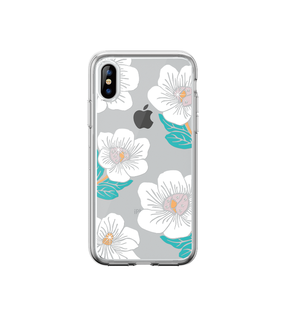 iPhone XR- Blossom Crystal Case White