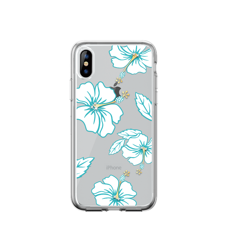 iPhone XR- Blossom Crystal Case Green