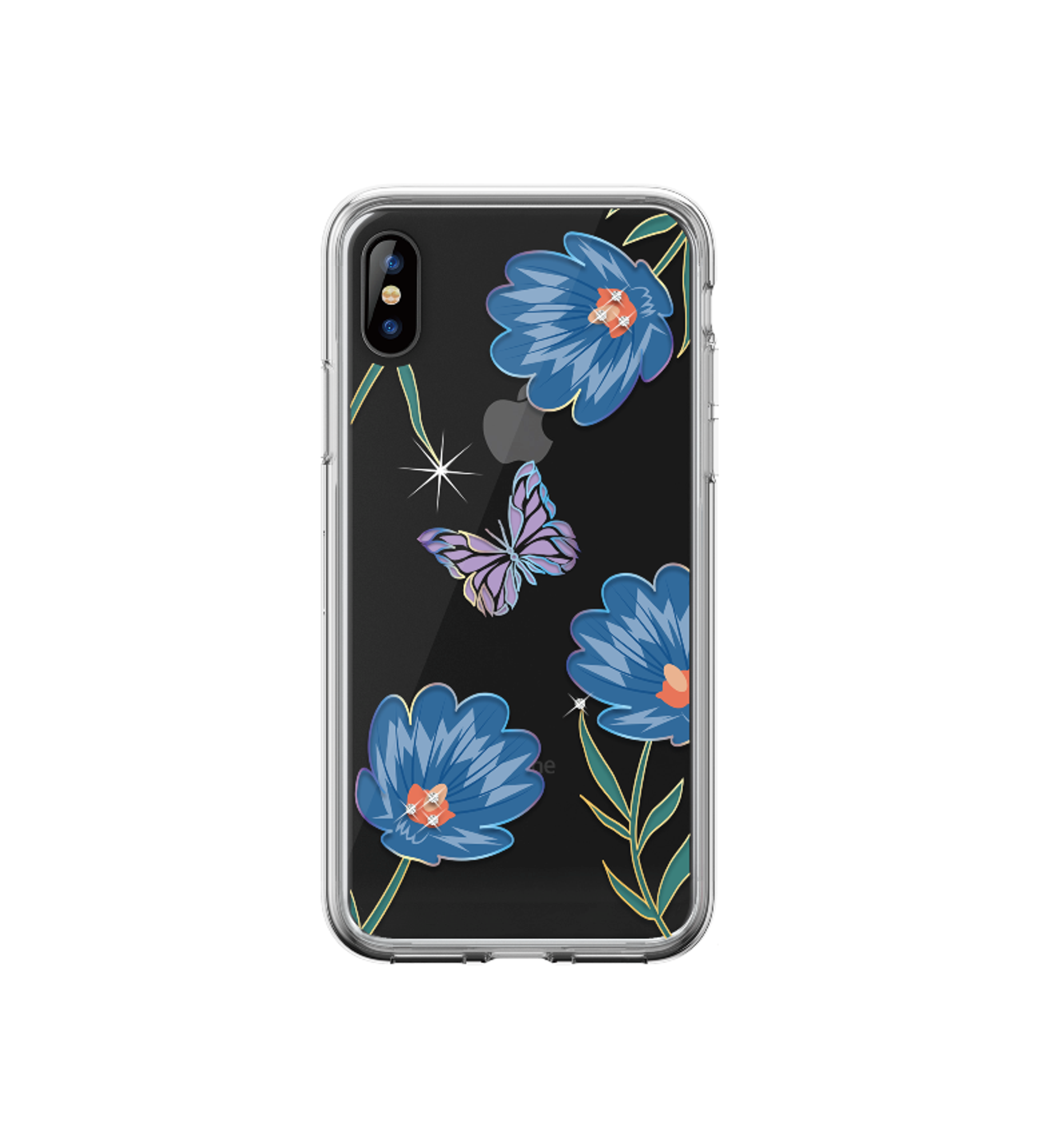 iPhone XR- Blossom Crystal Case Blue