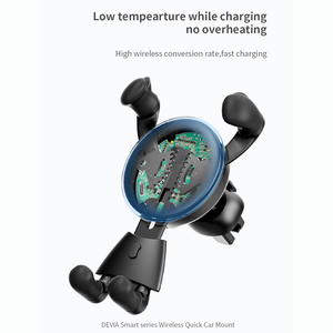 Smart Series Wireless Quick Charger Car Mount , Low temperature