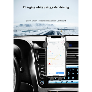 Smart Series Wireless Quick Charger Car Mount , Charging While Charging