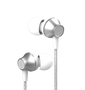 Metal In-ear Wired Earphone with Remote and Mic - Silver