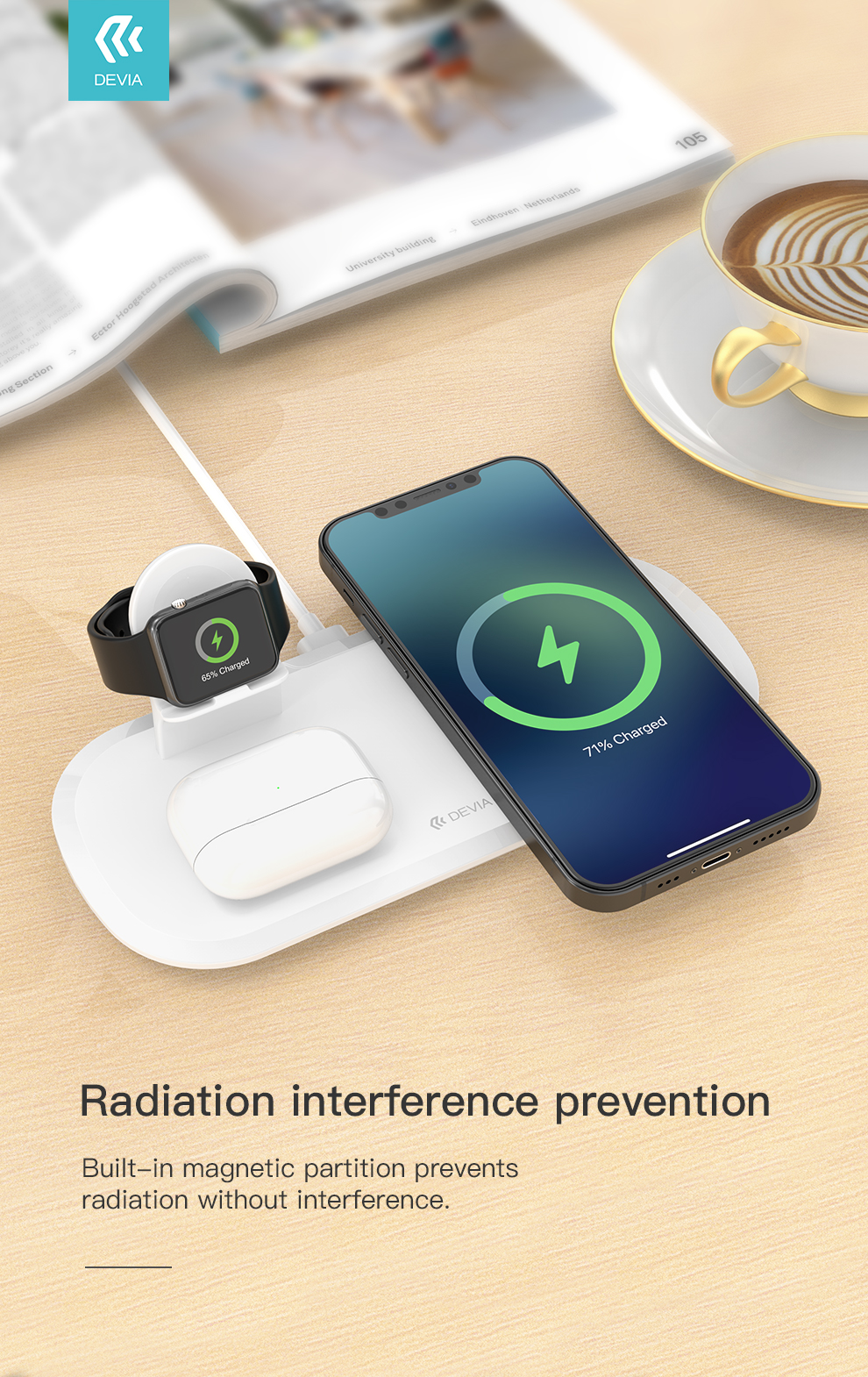 Devia 3 in 1 Wireless Charger