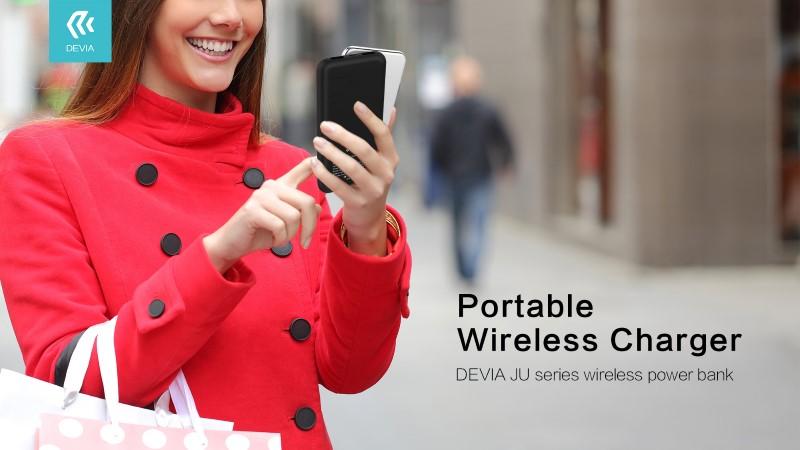 JU series wireless power bank 8000 mAh Wireless