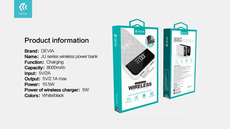 JU series wireless power bank 8000 mAh
