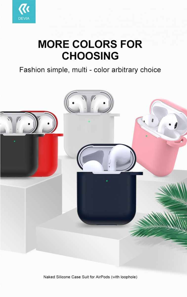 The Devia AirPods headphone case is a great accessory to protect expensive headphones from breakage, dirt or scratches. In addition to the protective function, you will also enjoy some handy gadgets.