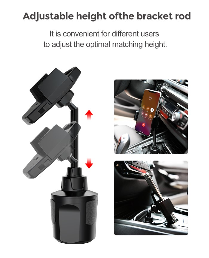Devia Cup Base Car Phone Holder Applicable for 5 Up To 9.9cm Phone Width