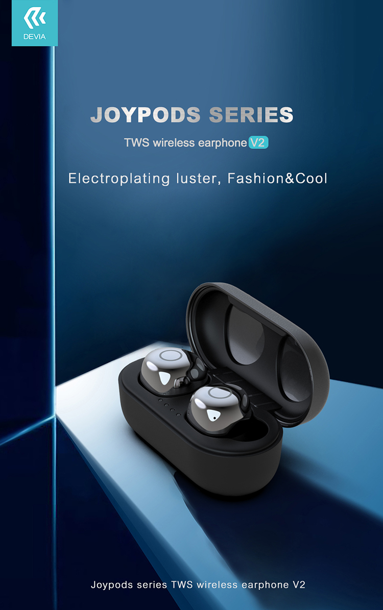 Take this Joypods Series TWS Wireless Earphone V2 headset with you anywhere with long battery life, fast charging and High sound quality