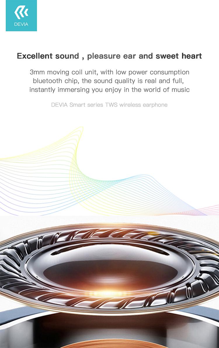 Devia Wireless Bluetooth Earphone TWS Smart Series