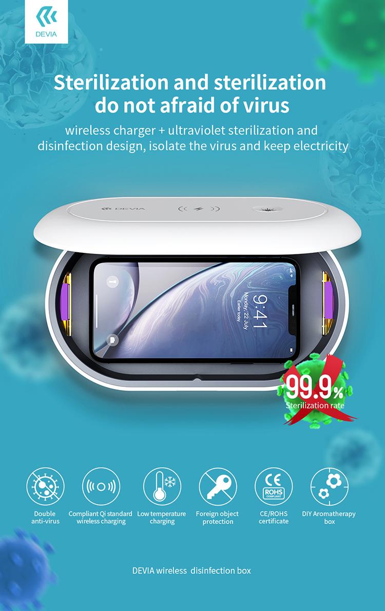 Devia Portable UV Disinfection Storage Sanitizer/Sterilizing Box