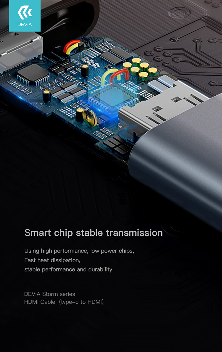 Storm Series Type C to HDMI enables you to connect Type C device to HDMI equipped display, monitor, projector, good choice for presentations, workshop, lectures