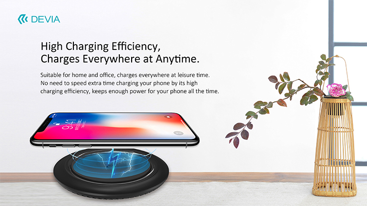 Wireless Charger Ultra thin UFO Series 15W Power, sleek design, easily carried on the go for convenient wireless charging. No more wires fuss.