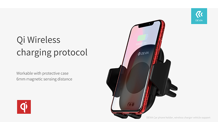 Smart Infrared Sensor Wireless Charger Car Mount is more than just a phone holder, also size of your device using infrared sensors and grips it accordingly.