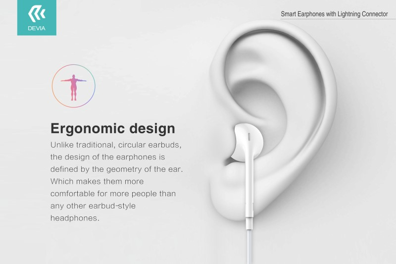 Smart Bluetooth Earphone With Lightning Interface, With Devia you can get a pair of well made and great sounding headphones at a reasonable price