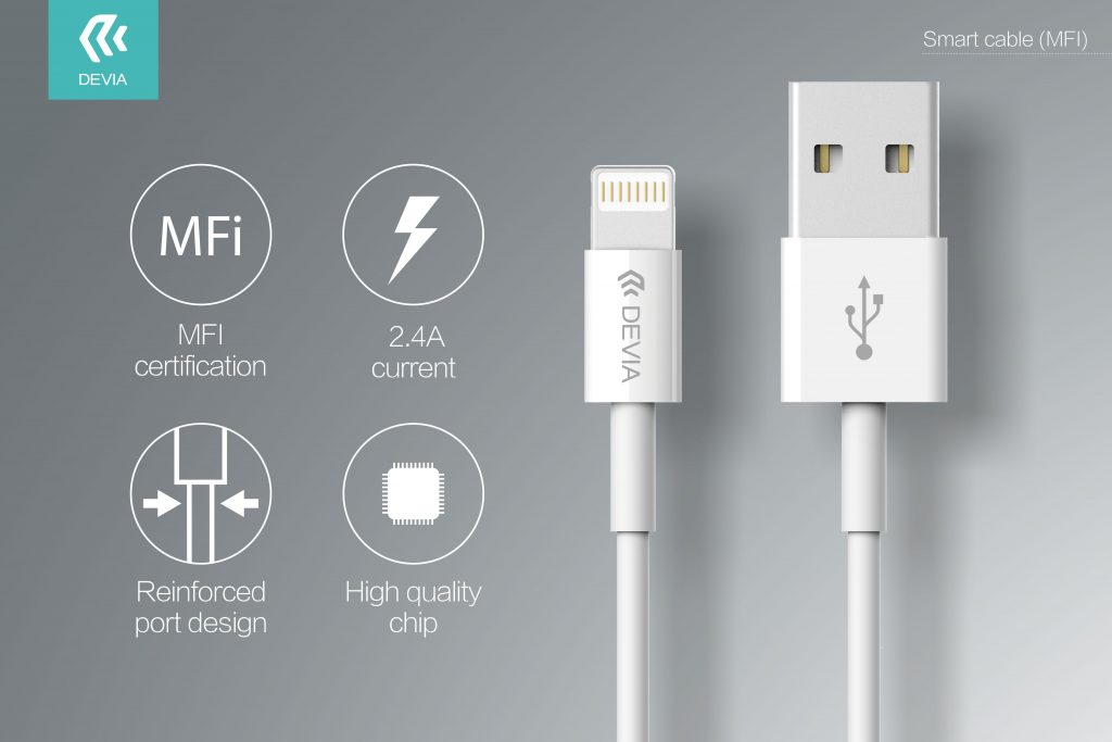 Smart Series Cable for Lightning (MFi, 5V 2.4A,1M)