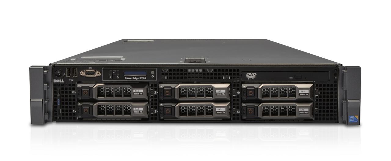 Dell PowerEdge R710 Server, 2x Intel Xeon E5520 Quad Core CPU
