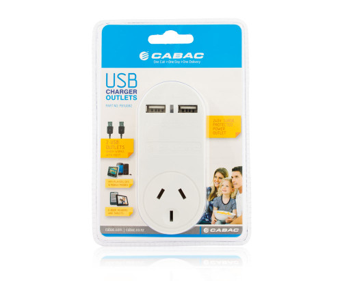 Cabac Power Outlet 240V With 2x USB | Recompute