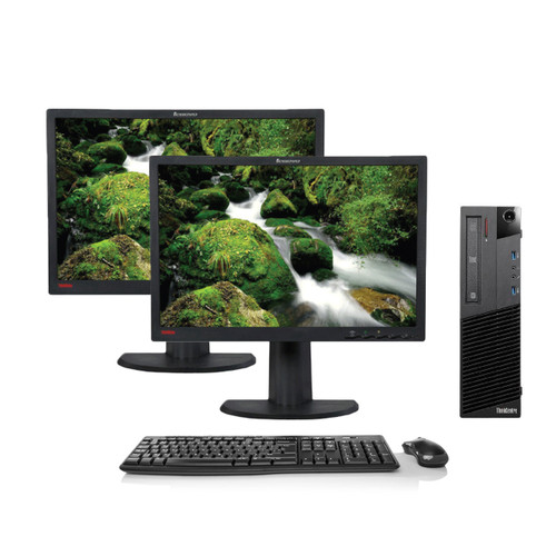 Refurbished Lenovo ThinkCentre M93p SSF Dual Monitor Package - Recompute