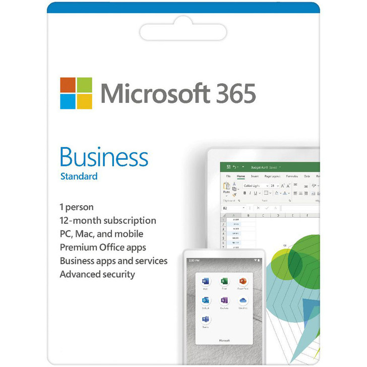 Microsoft Office 365 Business Standard 1 Card - Media less Activation Card - Microsoft Word - Microsoft Office for Business