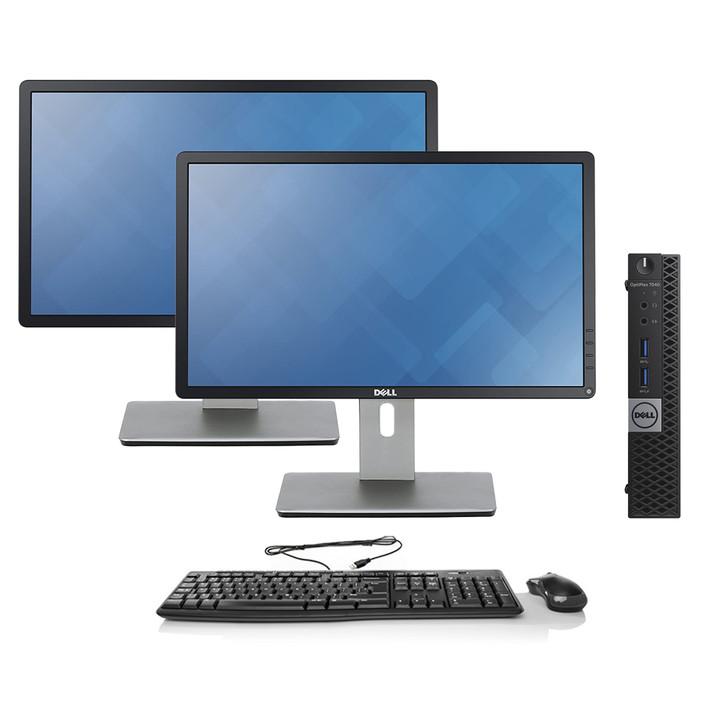 Refurbished Dell OptiPlex 7040 Micro Desktop Dual Monitor | Recompute