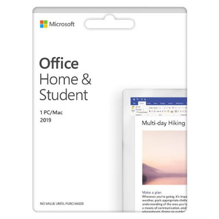Microsoft Office 2019 Home and Student 1 Card