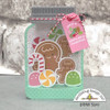 """Here is an example of the card """"filled.""""  This was created using the Doodlebug Design Christmas Magic Collection."""