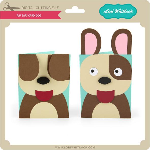 Flip Ears Card Dog
