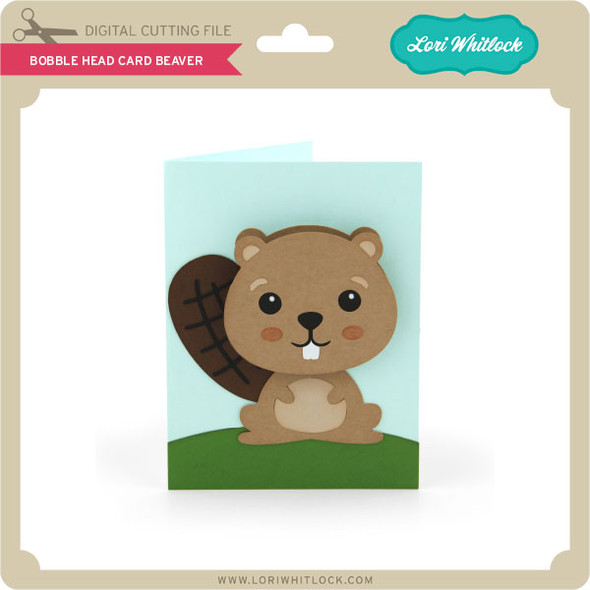 Bobble Head Card Beaver