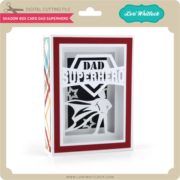 Shadow Box Card Dad Superhero