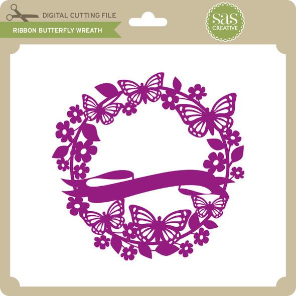 Ribbon Butterfly Wreath