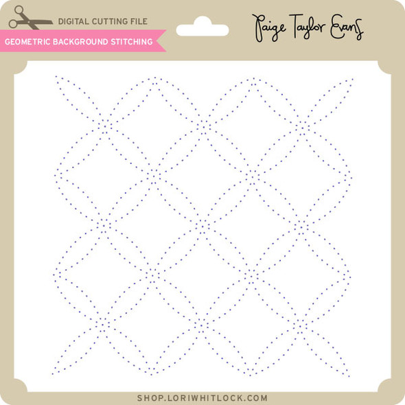 Geometric Background Stitching Template