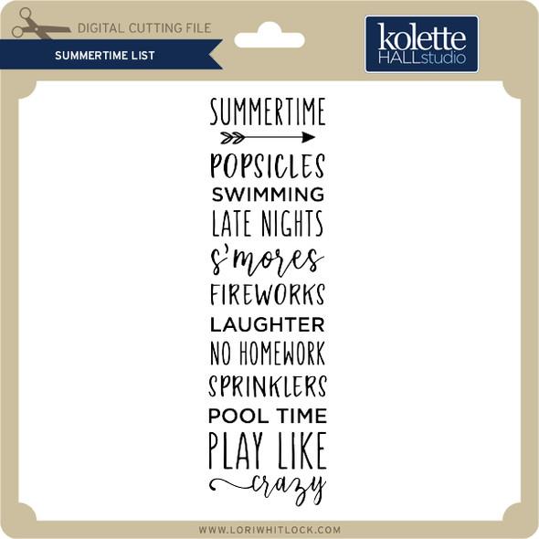 Summertime List