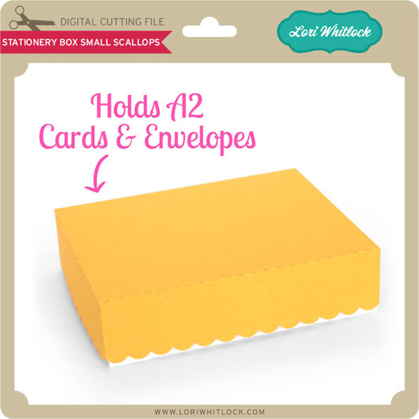 Stationery Box Small Scallops