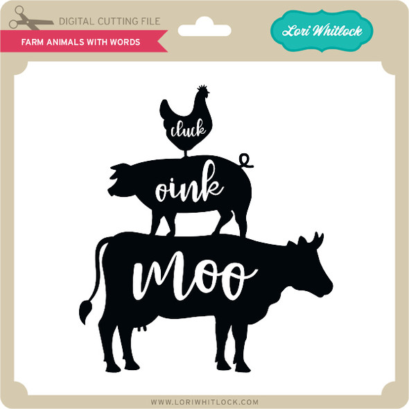Farm Animals With Words