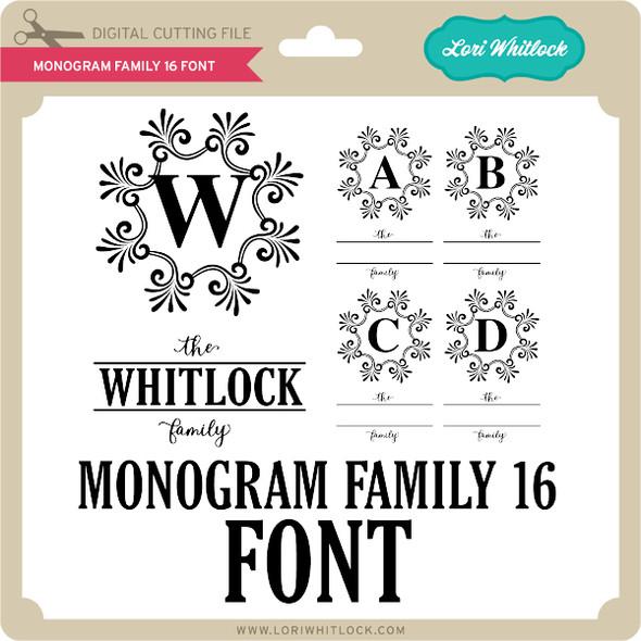 Monogram Family 16 Font