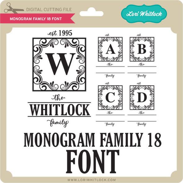 Monogram Family 18 Font