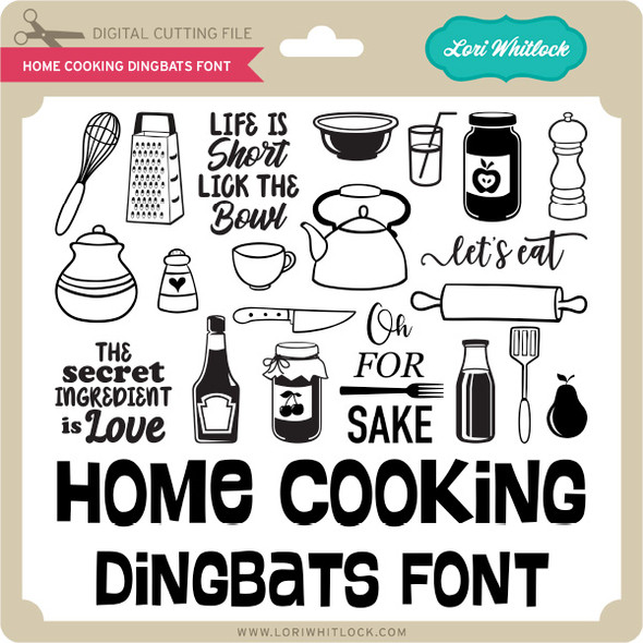 Home Cooking Dingbats Font