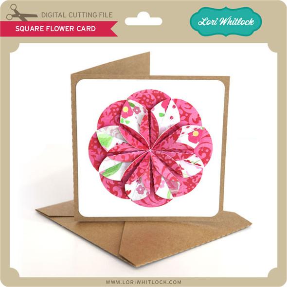 Square Flower Card