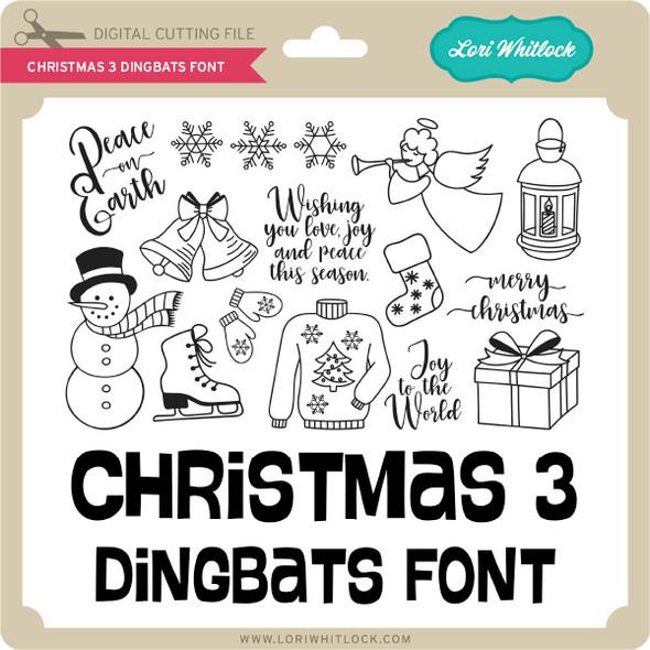 Christmas 3 Dingbats Font