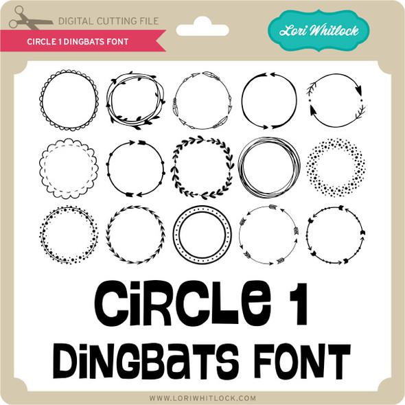 Circle 1 Dingbats Font