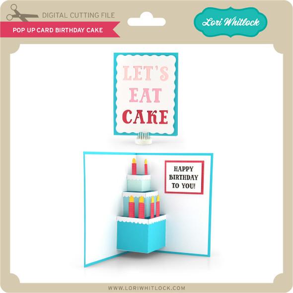Pop Up Card Birthday Cake