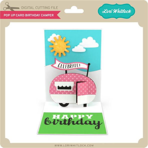 Pop Up Card Birthday Camper