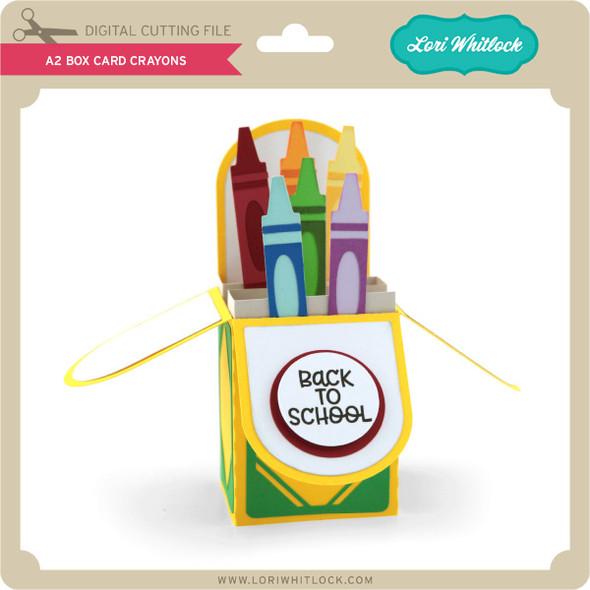 A2 Box Card Crayons