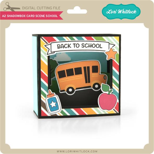 A2 Shadowbox Card Scene School
