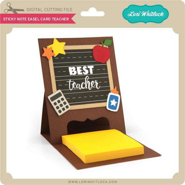 Sticky Note Easel Card Teacher