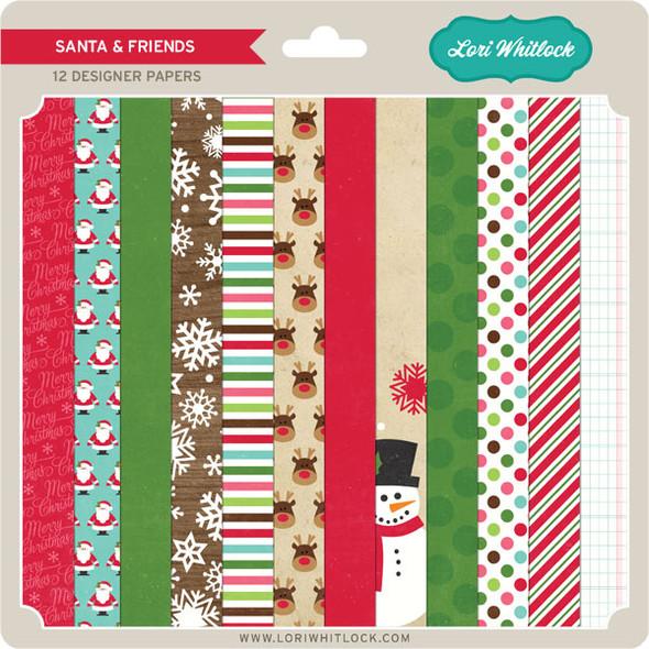 Pattern Fill Set Santa & Friends